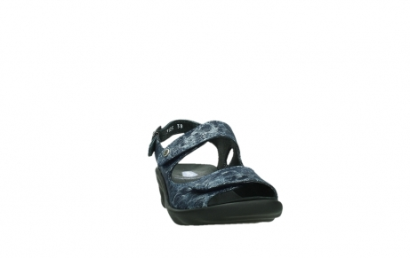 wolky sandalen 03125 scala 48800 blue printed suede_6