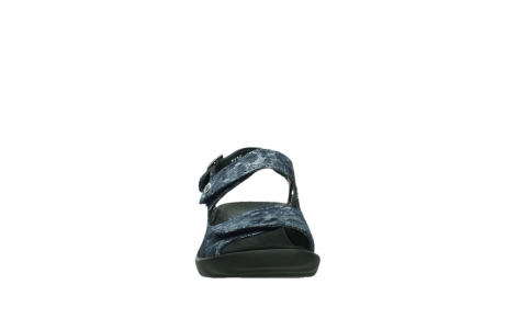 wolky sandalen 03125 scala 48800 blue printed suede_7