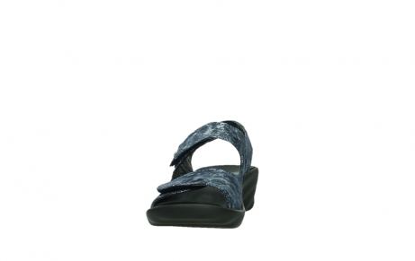 wolky sandalen 03125 scala 48800 blue printed suede_8