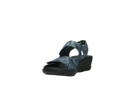 wolky sandalen 03125 scala 48800 blue printed suede_9