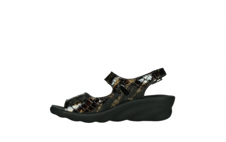 wolky sandalen 03125 scala 69320 bronze croco patent leather_13