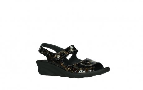 wolky sandalen 03125 scala 69320 bronze croco patent leather_3