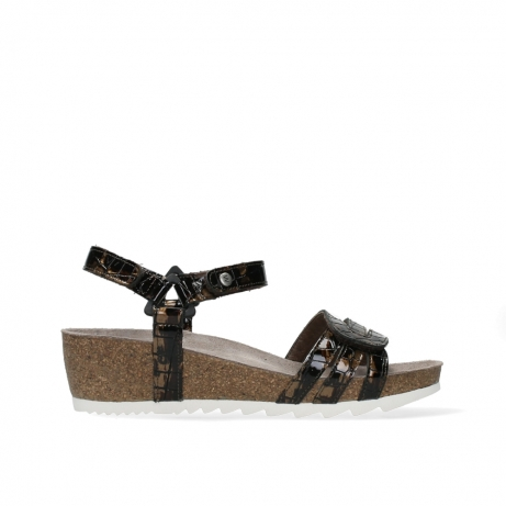 wolky sandalen 08235 pacific 69320 bronze croco polished leather