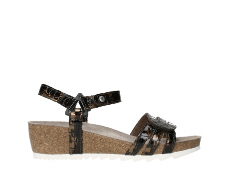 wolky sandalen 08235 pacific 69320 bronze croco polished leather_1