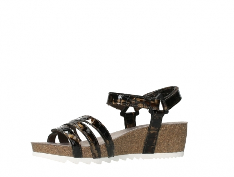 wolky sandalen 08235 pacific 69320 bronze croco polished leather_11