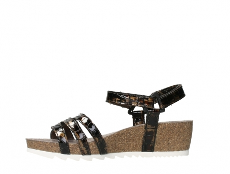 wolky sandalen 08235 pacific 69320 bronze croco polished leather_12