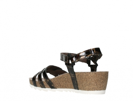 wolky sandalen 08235 pacific 69320 bronze croco polished leather_16