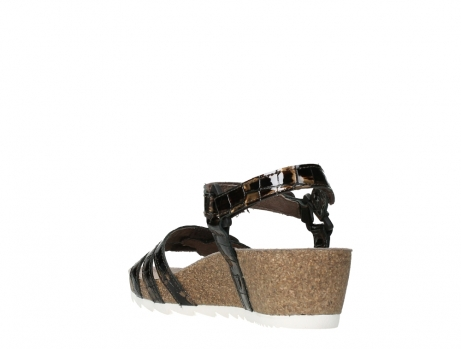 wolky sandalen 08235 pacific 69320 bronze croco polished leather_17