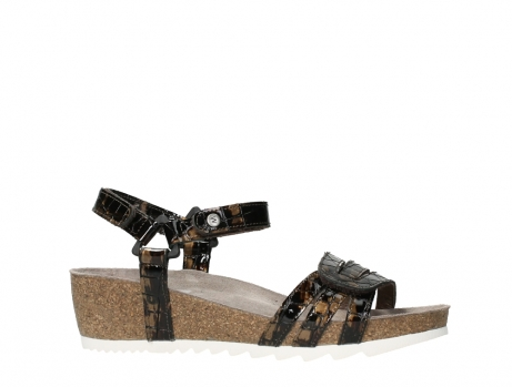 wolky sandalen 08235 pacific 69320 bronze croco polished leather_2