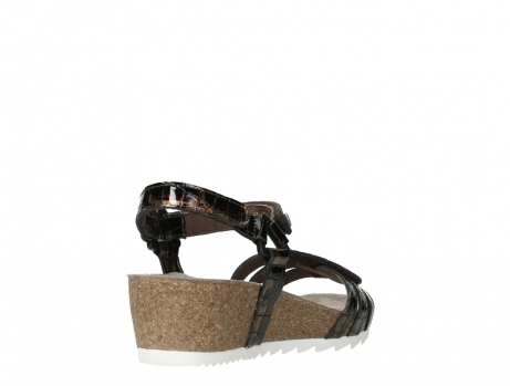 wolky sandalen 08235 pacific 69320 bronze croco polished leather_21