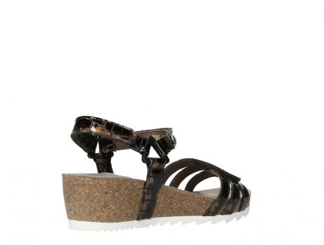wolky sandalen 08235 pacific 69320 bronze croco polished leather_22
