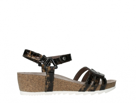 wolky sandalen 08235 pacific 69320 bronze croco polished leather_24