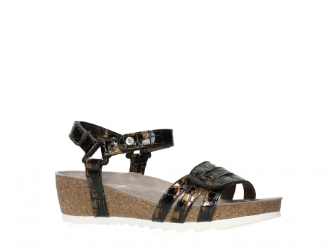 wolky sandalen 08235 pacific 69320 bronze croco polished leather_3