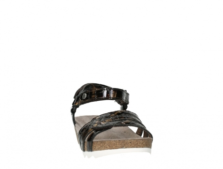 wolky sandalen 08235 pacific 69320 bronze croco polished leather_6