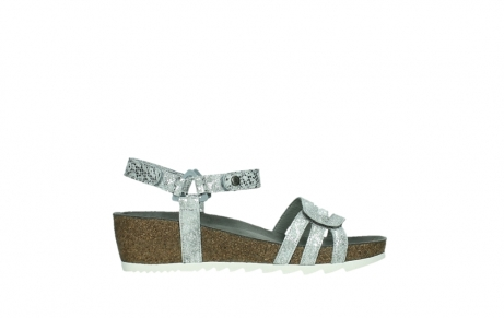 wolky sandalen 08235 pacific 99130 silver snake print leather_1