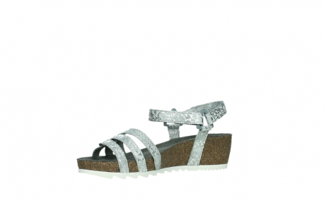wolky sandalen 08235 pacific 99130 silver snake print leather_11