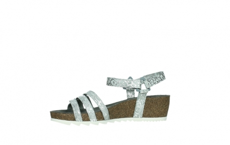 wolky sandalen 08235 pacific 99130 silver snake print leather_12