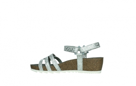 wolky sandalen 08235 pacific 99130 silver snake print leather_14