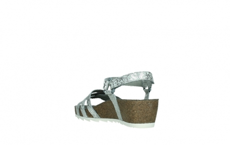 wolky sandalen 08235 pacific 99130 silver snake print leather_17