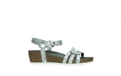 wolky sandalen 08235 pacific 99130 silver snake print leather_2