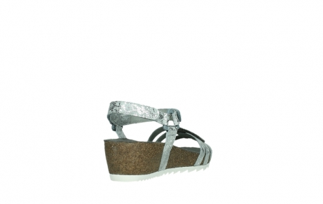 wolky sandalen 08235 pacific 99130 silver snake print leather_21