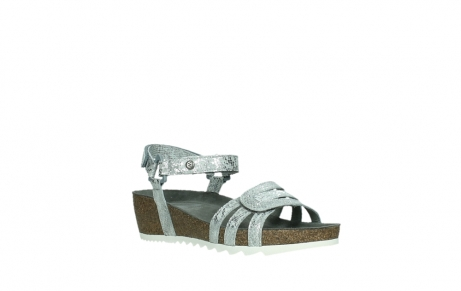 wolky sandalen 08235 pacific 99130 silver snake print leather_4