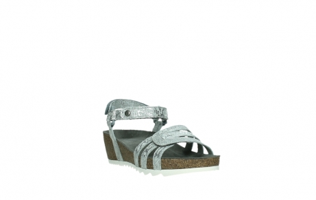 wolky sandalen 08235 pacific 99130 silver snake print leather_5
