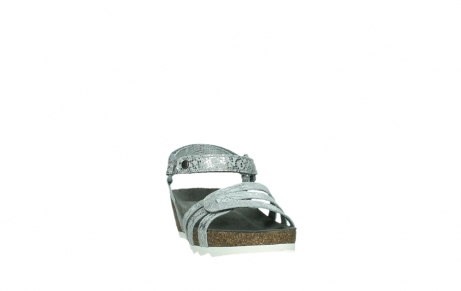 wolky sandalen 08235 pacific 99130 silver snake print leather_6