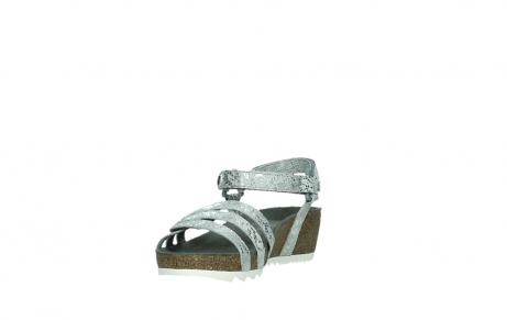 wolky sandalen 08235 pacific 99130 silver snake print leather_9