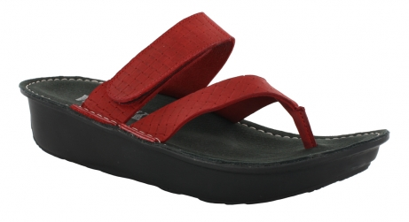wolky sandals u 06180 tahiti 30500 red leather