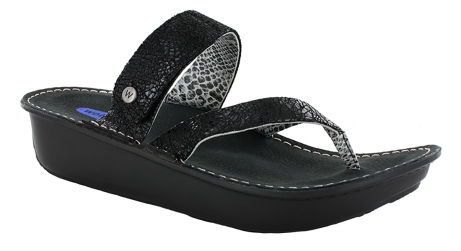 wolky sandals u 06180 tahiti 40000 black craquele leather