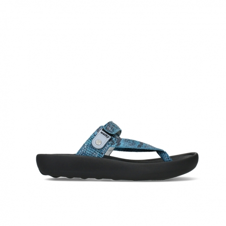 wolky slippers 00821 peace 98760 turquoise snake print leather