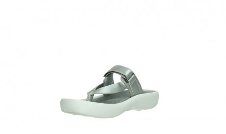 wolky slippers 00821 peace 87130 silver grey pearl leather_10