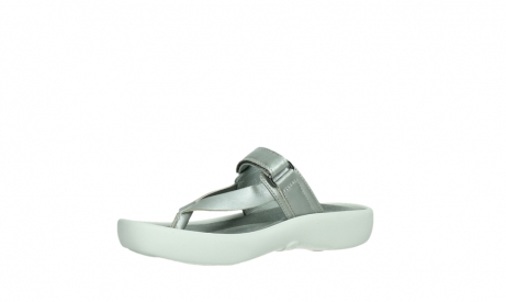 wolky slippers 00821 peace 87130 silver grey pearl leather_11