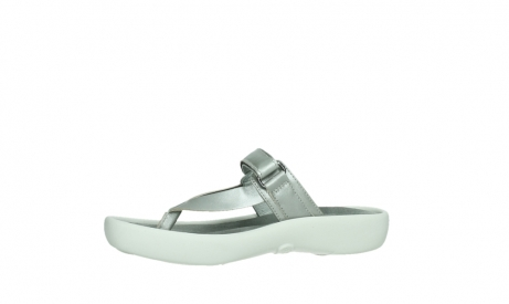 wolky slippers 00821 peace 87130 silver grey pearl leather_12