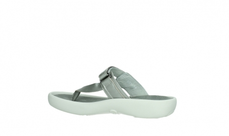 wolky slippers 00821 peace 87130 silver grey pearl leather_15