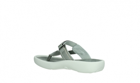 wolky slippers 00821 peace 87130 silver grey pearl leather_16