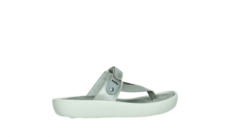 wolky slippers 00821 peace 87130 silver grey pearl leather_24