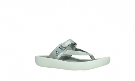 wolky slippers 00821 peace 87130 silver grey pearl leather_3