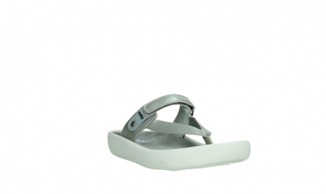 wolky slippers 00821 peace 87130 silver grey pearl leather_5