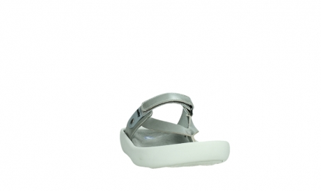 wolky slippers 00821 peace 87130 silver grey pearl leather_6