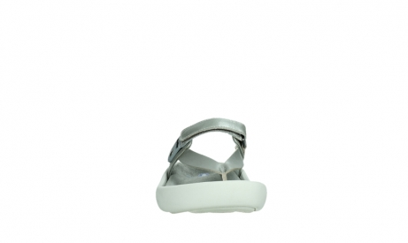 wolky slippers 00821 peace 87130 silver grey pearl leather_7