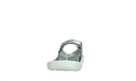 wolky slippers 00821 peace 87130 silver grey pearl leather_8