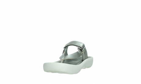 wolky slippers 00821 peace 87130 silver grey pearl leather_9