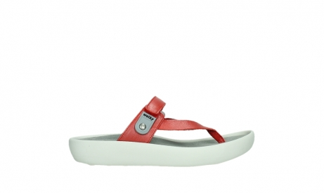 wolky slippers 00821 peace 87500 red pearl leather_1
