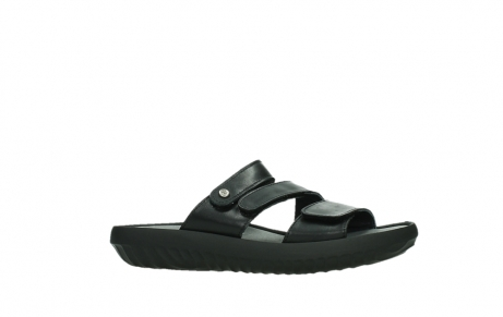 wolky slippers 00885 sense 31002 black leather_2