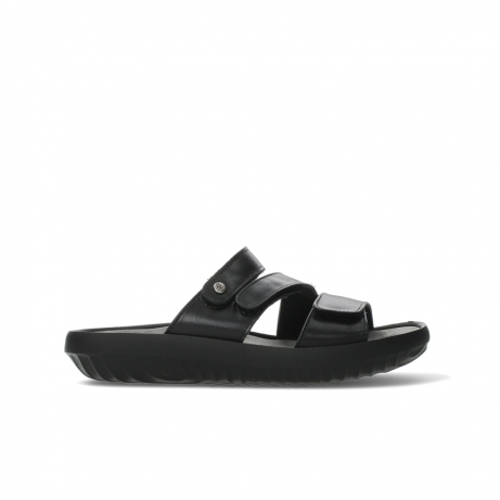 wolky slippers 00885 sense 31002 black leather