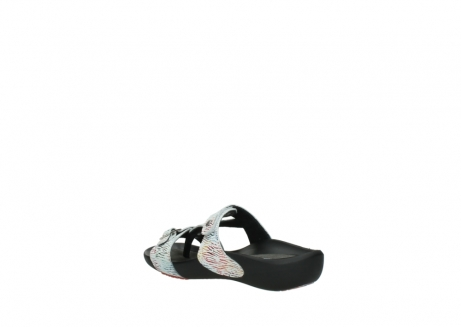 wolky slippers 01000 oconnor 70980 white multi color canal leather_4