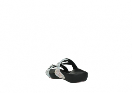 wolky slippers 01000 oconnor 70980 white multi color canal leather_5