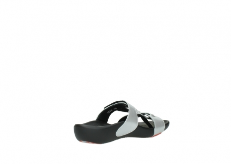 wolky slippers 01000 oconnor 80200 grey patent metallic leather_10